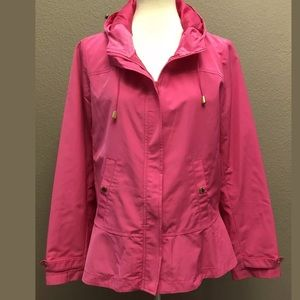 Crown & Ivy Hooded Swing Jacket Size S